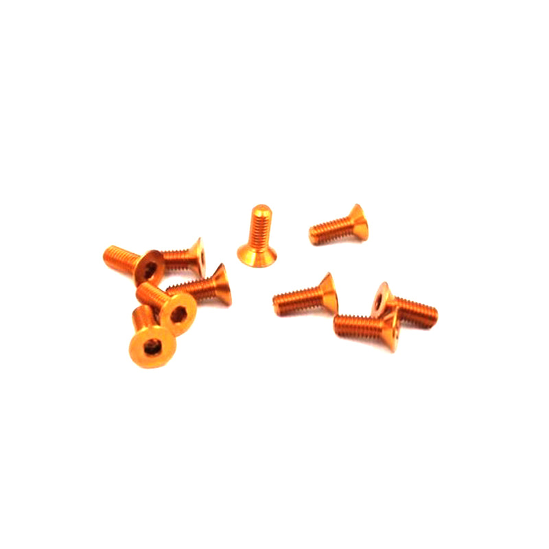 #ASS-310CO - TWORK's 7075-T6 Hex. Countersink Screw ORANGE 3x10mm