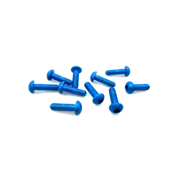 #ASS-310BB - TWORK's 7075-T6 Button Head Screw BLUE 3x10mm