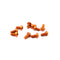 #ASS-310BO - TWORK's 7075-T6 Button Head Screw ORANGE 3x10mm