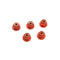 #ASS-3FLN-O - TWORK's Aluminium Flanged Lock Nuts 3mm ORANGE