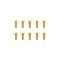 #GSS-308B -  TWORK's Gold Plated Button Head Screws 3x8mm