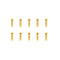 #GSS-310B -  TWORK's Gold Plated Button Head Screws 3x10mm