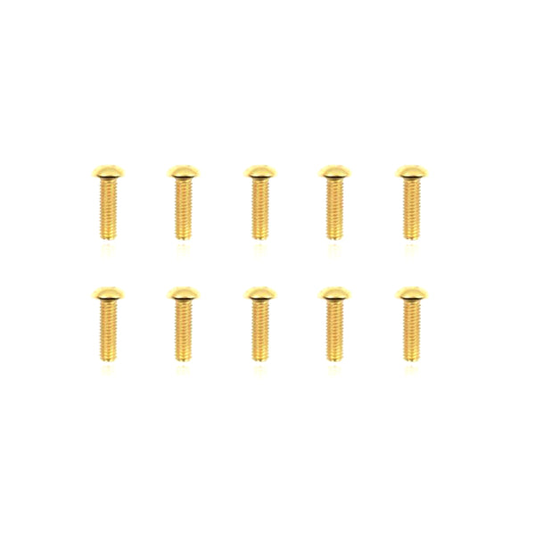 #GSS-312B -  TWORK's Gold Plated Button Head Screws 3x12mm