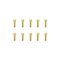 #GSS-310H - TWORK's Gold Plated Socket Head Screws 3x10mm