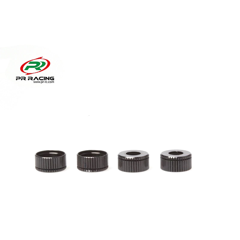 #PR66402606 - Lower Shock Seal Cap - +0.5mm - (4pcs) - Black