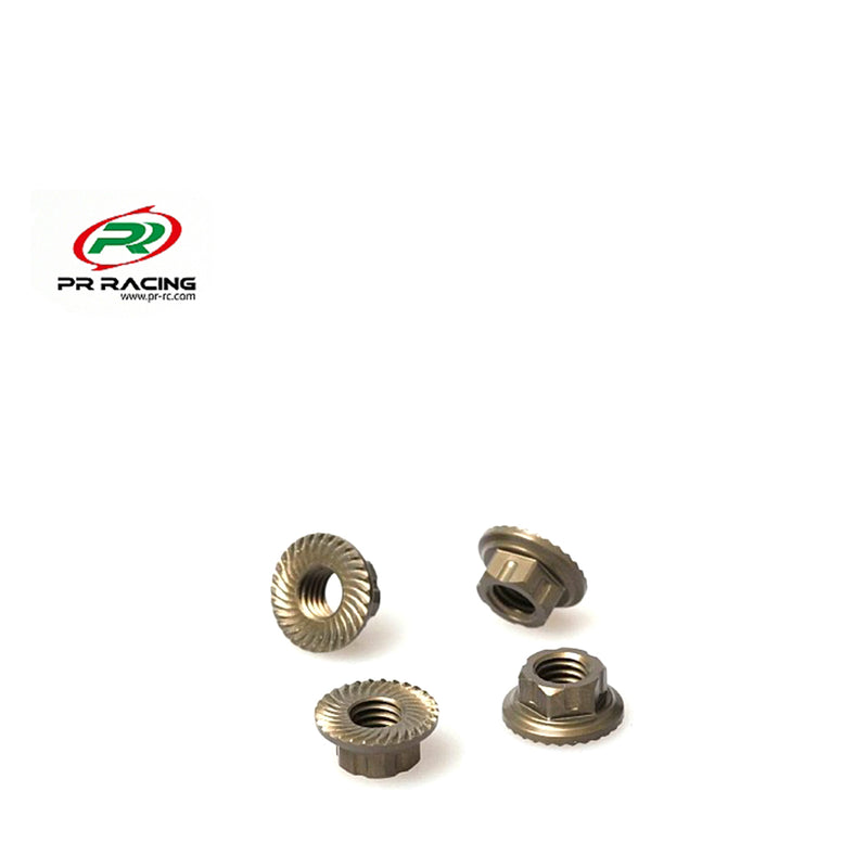 #PR83400116 - M5 Low Profile Aluminium Serrated Flanged Nut with 7mm Hex (4pcs)