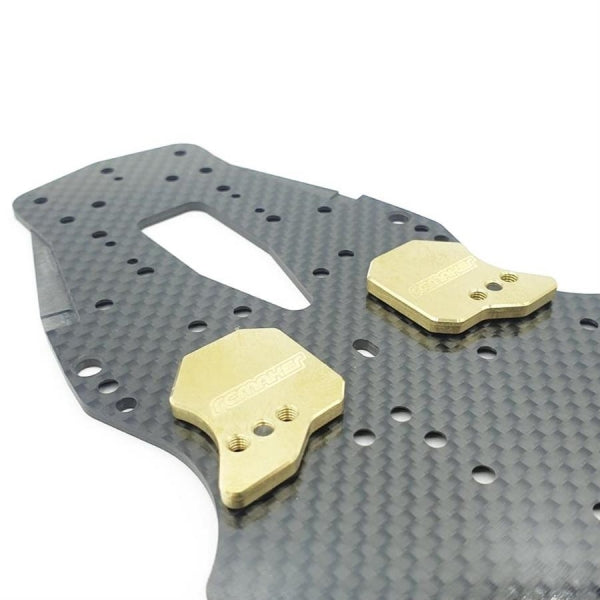 "#RCM-AMXAW-F - ""Weight Shift"" Adjustable LCG Chassis Weights for Awesomatix (Front)(2)"