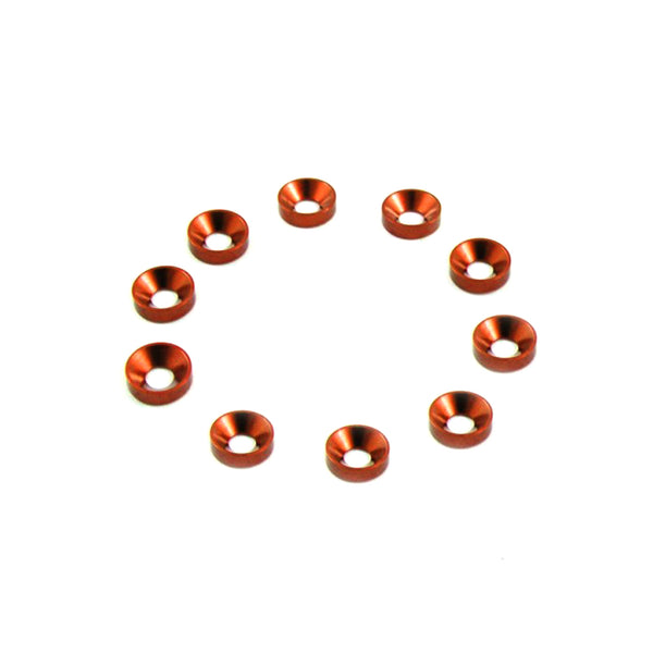 #TA-001O - TWORK's Aluminum M3 Countersink Washer ORANGE