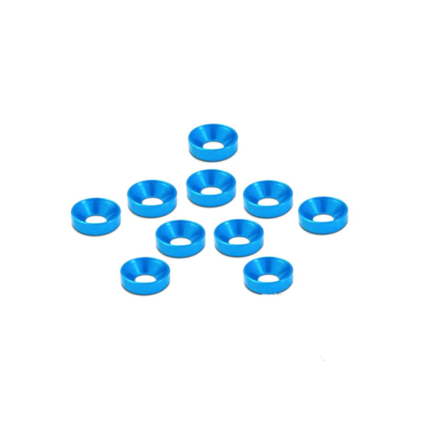 #TA-001TB - TWORK's Aluminum M3 Countersink Washer BLUE