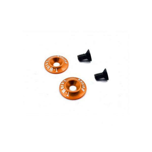 #TO-185O - T-WORK's 1/10 Wing Washer V2 - ORANGE
