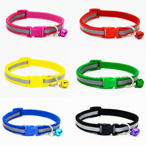 Reflective Dog Collar With a Bell