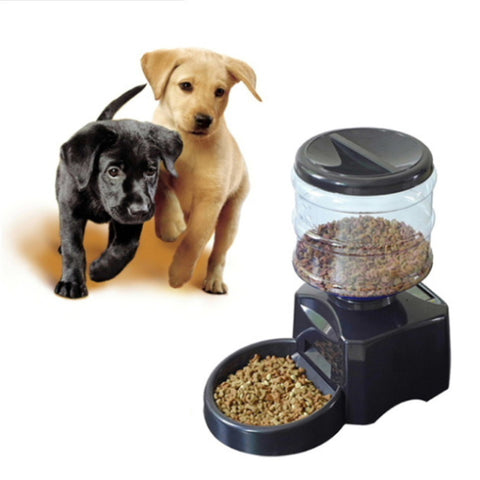"Automatic Pet Feeder with Voice Message Recording and LCD Screen ""5.5 L"""