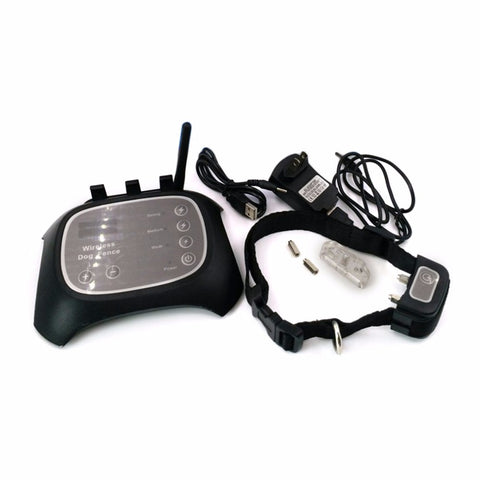 "Black Wireless Dog Fence ""Rechargeable and Waterproof"""