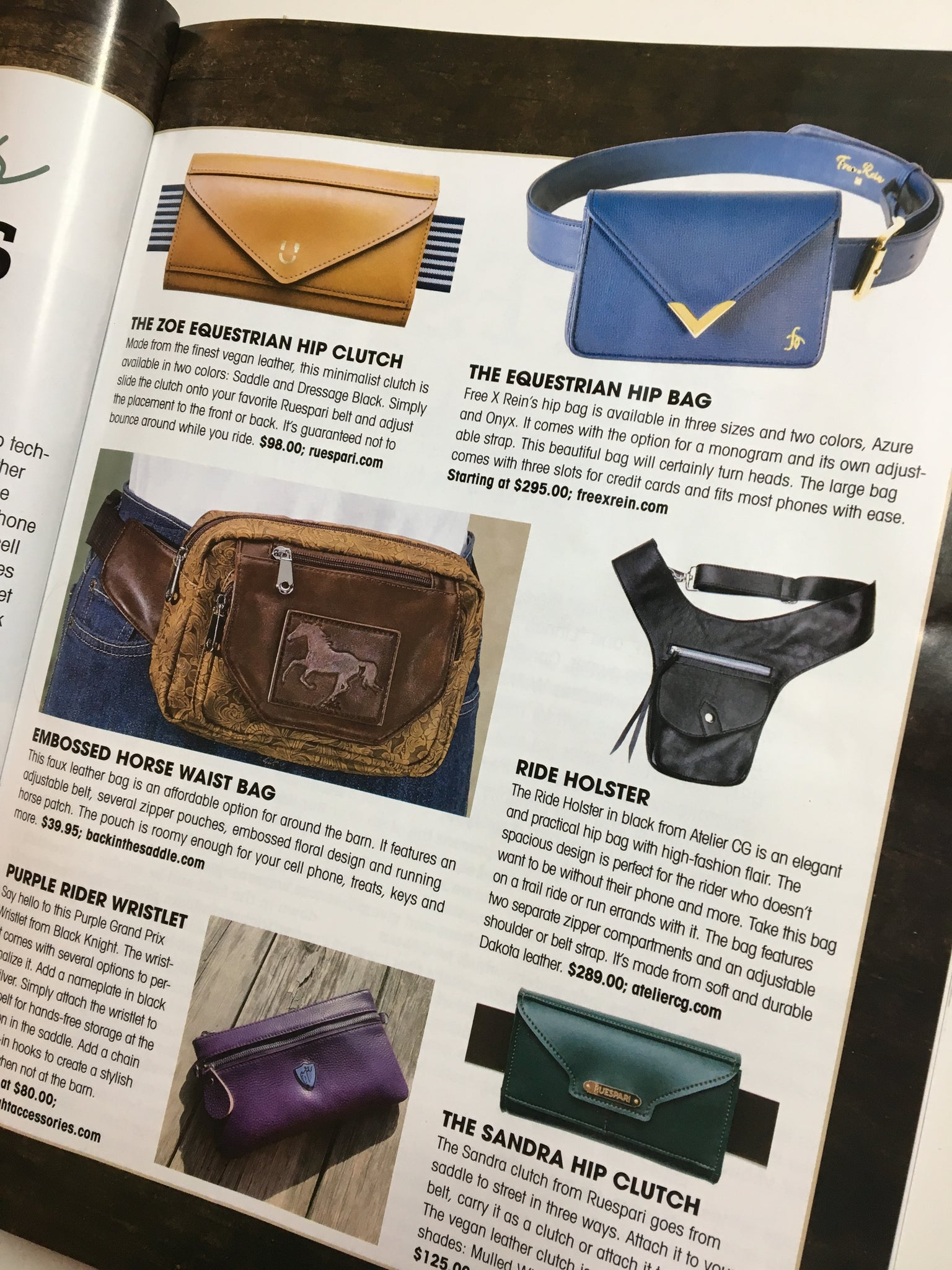 Ride Holster - Feature at Horse Illustrated 2020