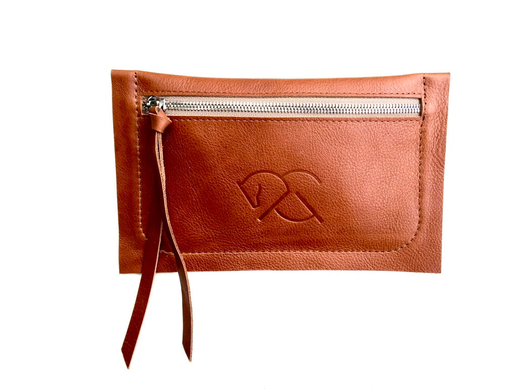 MARENGO CLUTCH | Red dun | Leather Waist Bag | Hip Bag | Equestrian Leather Pouch - AtelierCG™