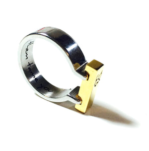 TOBIANO SIGNATURE RING in gold silver | Equestrian Style Ring | Horse Shoe Ring | Stainless Steel - AtelierCG™