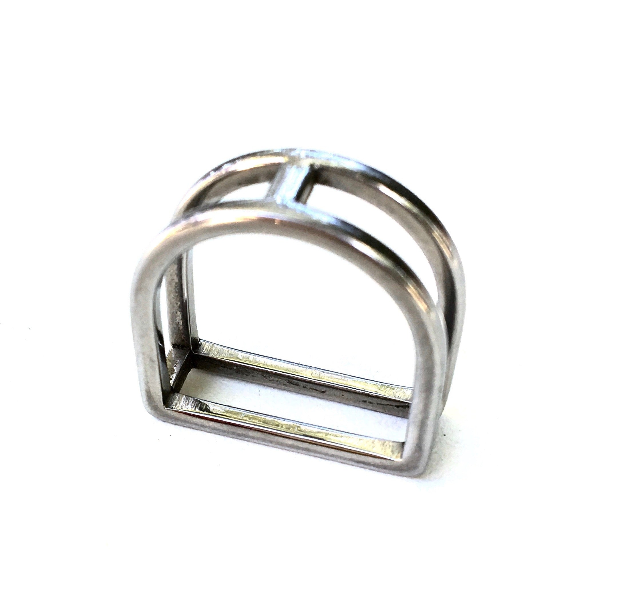 STIRRUP RING | Equestrian Style Ring | Stainless Steel Jewelry - AtelierCG™