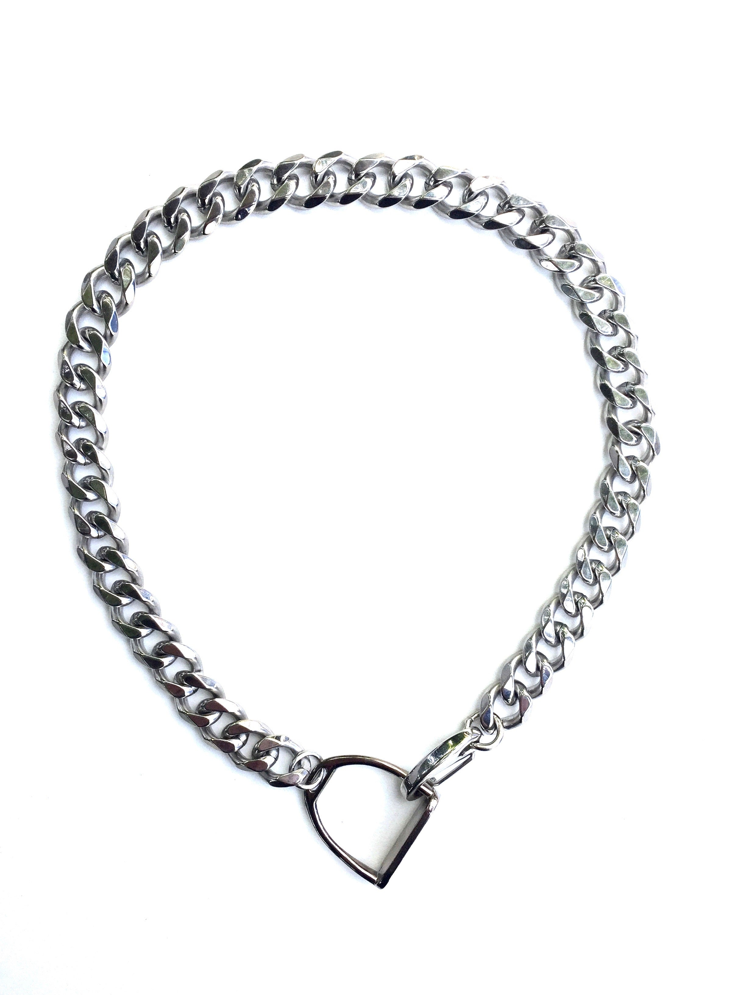 STIRRUP CURB CHAIN NECKLACE | Equestrian Jewerly | Stirrup Necklace | Equestrian Gifts - AtelierCG™