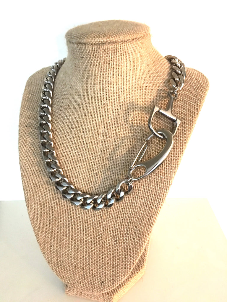 D-BIT CURB CHAIN CHOKER | Breeders Cup Limited | Equestrian Jewelry | D-Bit Necklace - AtelierCG™
