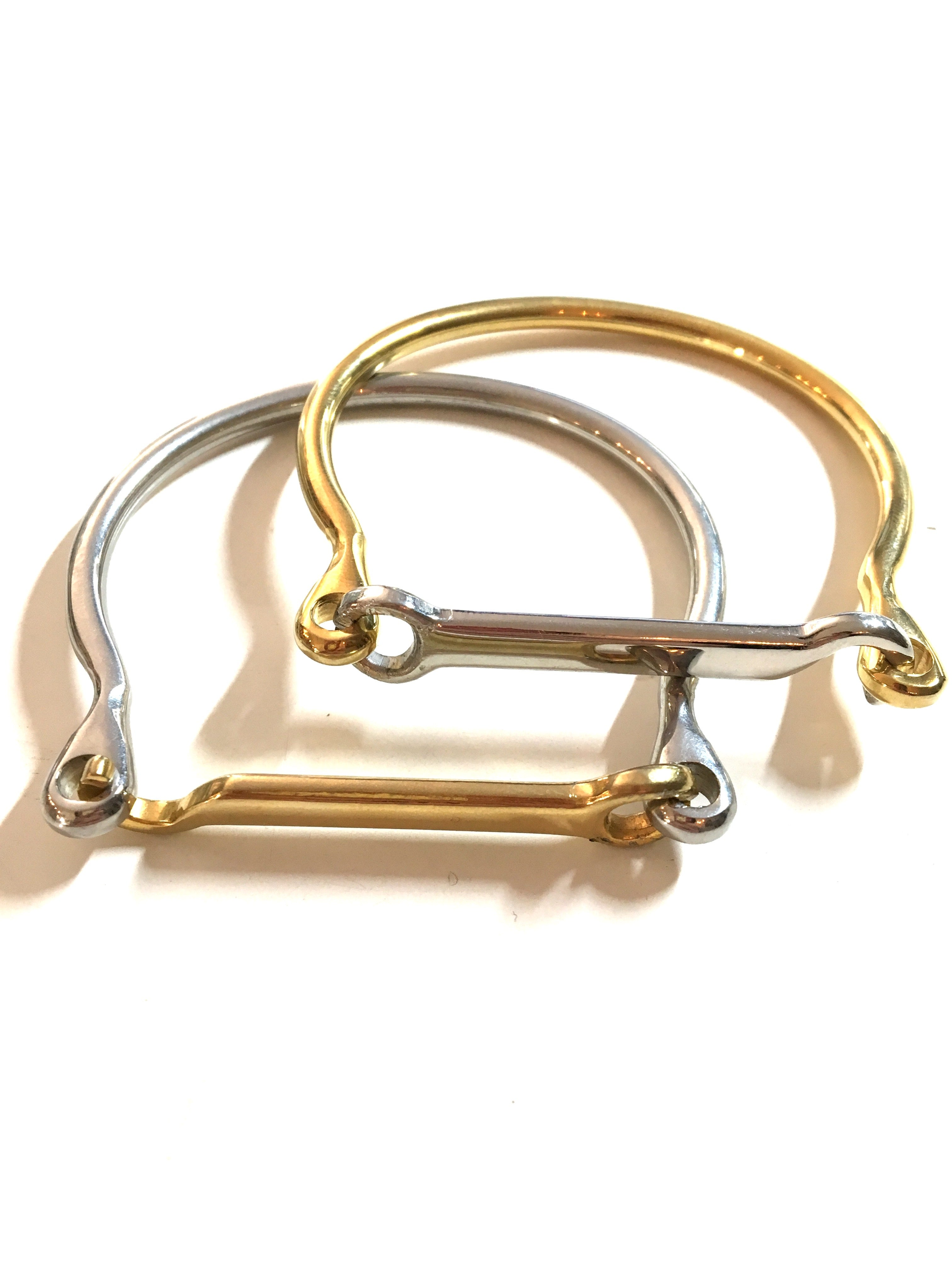 LUSITANO STIRRUP BANGLE - SILVER / GOLD | Equestrian Jewelry - AtelierCG™