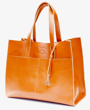MARWARI TOTE in red dun | Equestrian Handbags | Leather Tote Bags - AtelierCG™