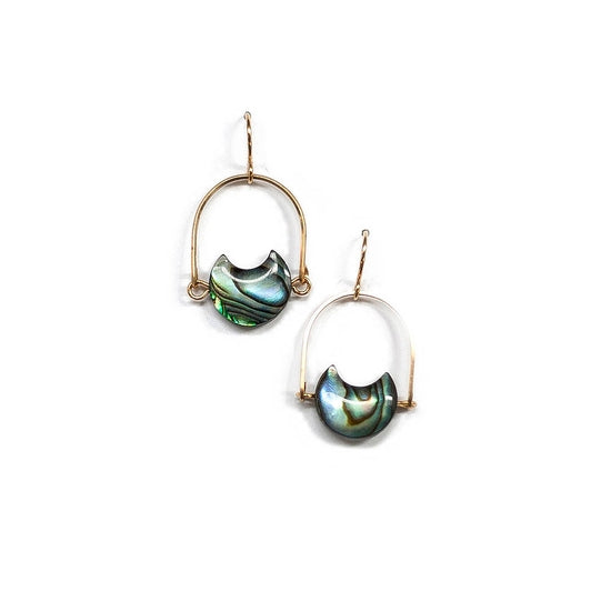 Abalone Mini Eclipse Earrings