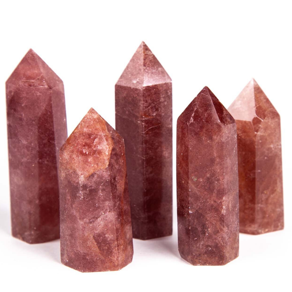 Red Aventurine Strawberry Quartz Point
