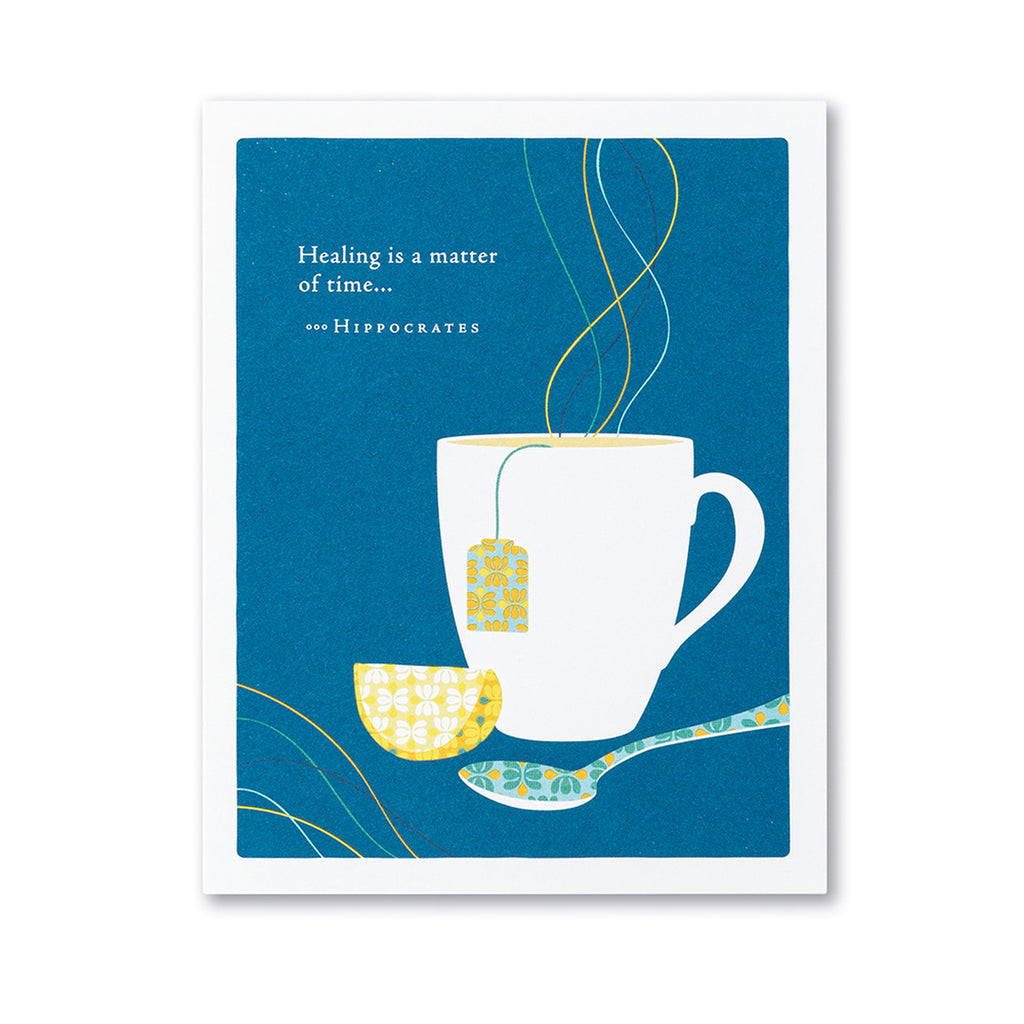 Get Well Card: Healing is a matter of time card