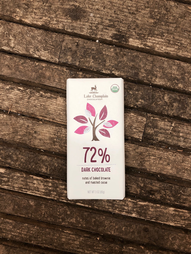 72% Dark Chocolate Organic Chocolate Bar