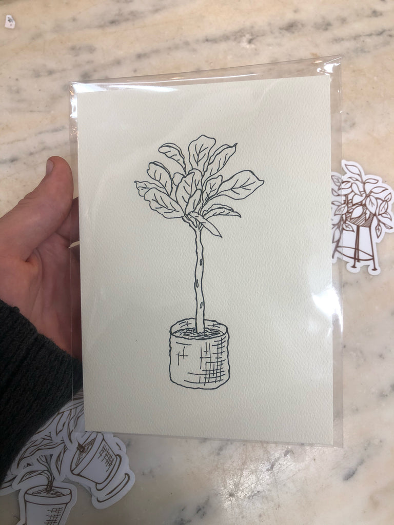 Fiddle Leaf Fig Print Illustration