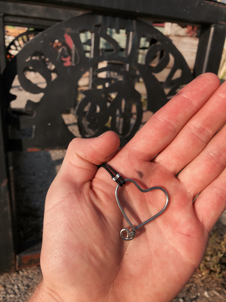 ReCycled Bicycle Heart Necklace