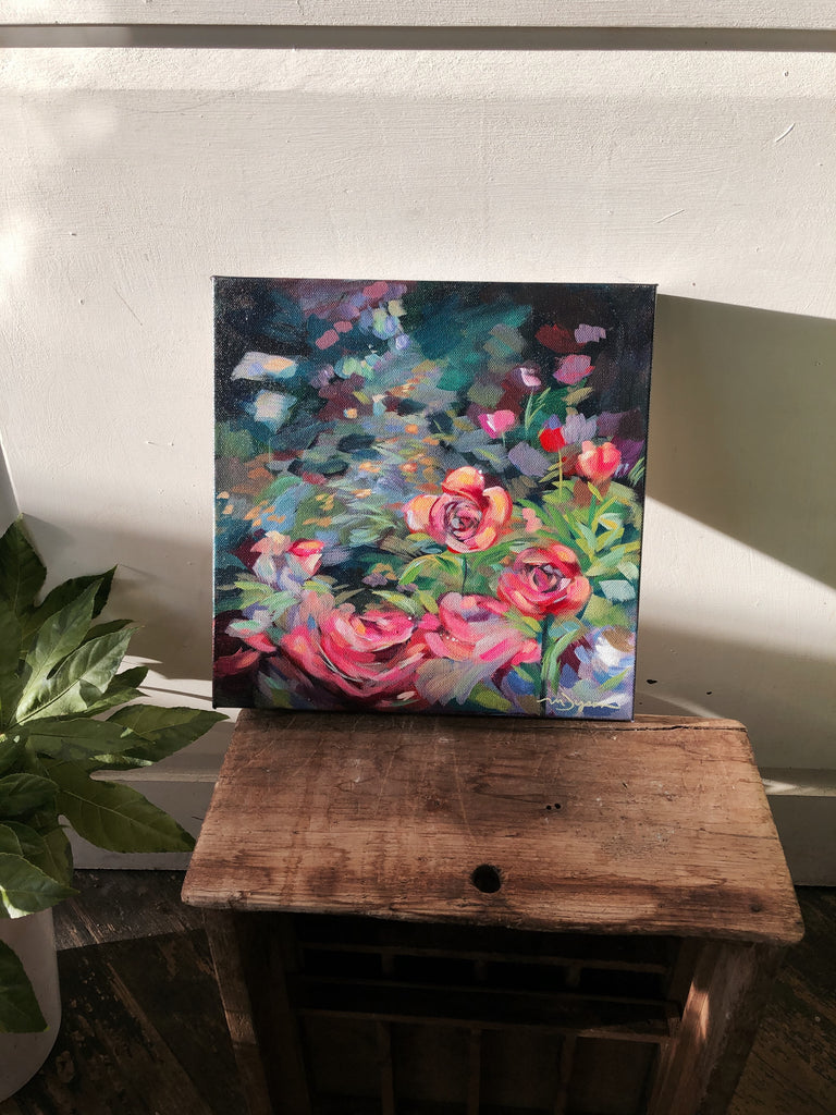"Featured Artist Painting- ""Wild Roses"""