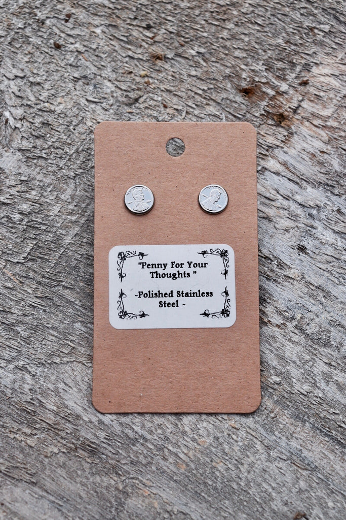 'Penny For Your Thoughts' Earrings-Small