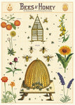 Bees & Honey Wrap/Poster