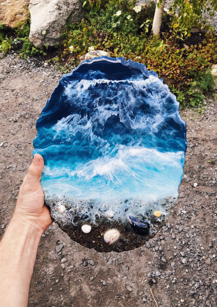 Ocean View Resin Art Piece