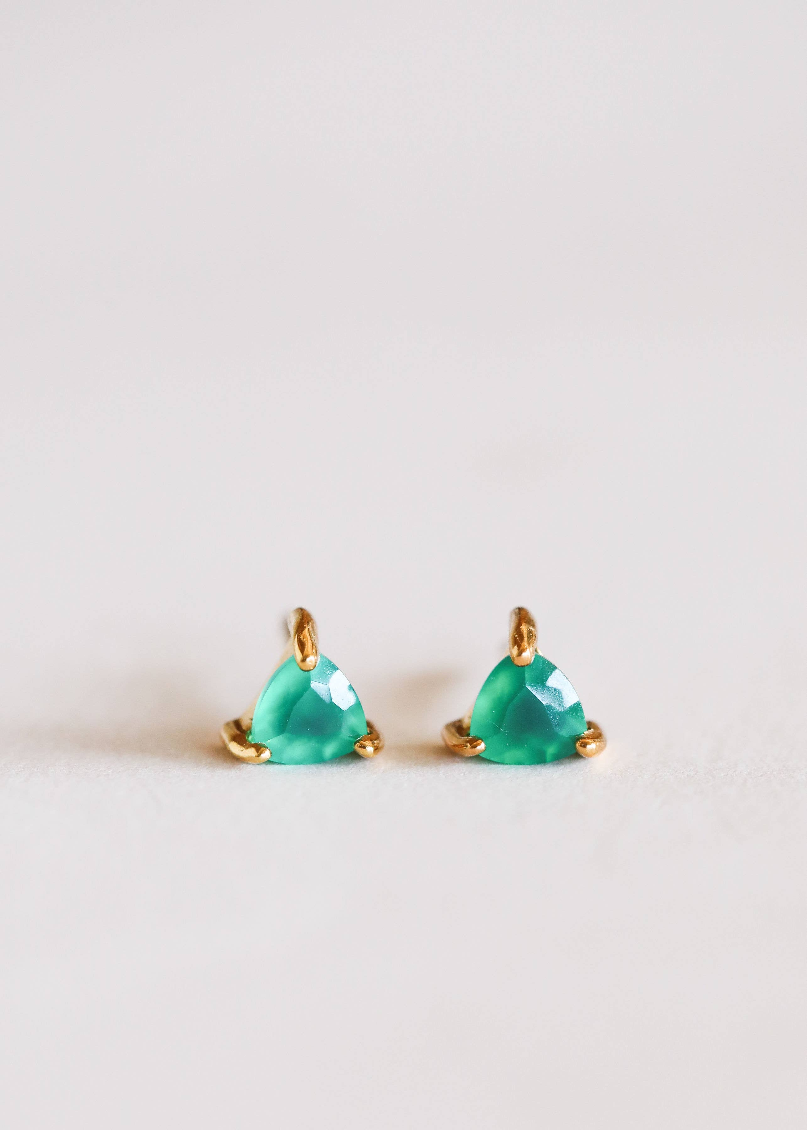 Green Onyx Mini Energy Gem Earrings