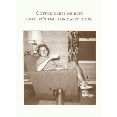 Coffee keeps me busy Card  - Shannon Martin