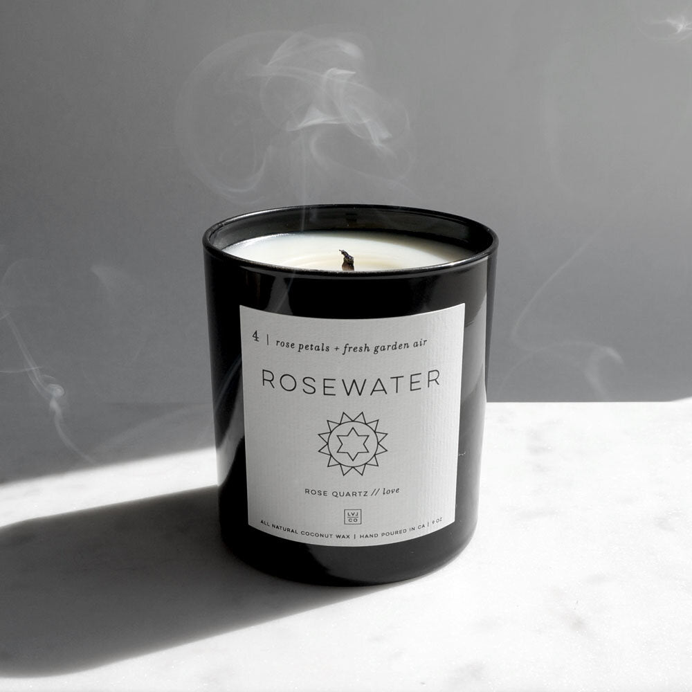 Rosewater Crystal Candle