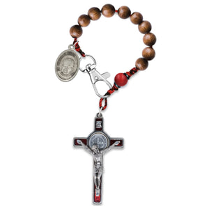 Handmade Wooden Pocket Rosary - Custom Designer