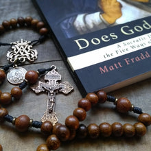Pardon bronze and wood rosary wit prayer book from The Catholic Woodworker