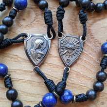 Handmade Wooden Rosary - Immaculate Heart Design - Silicon Bronze