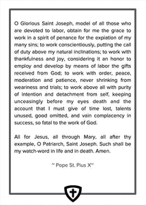 Inside back cover of the Catholic Woodworker Daily Examen Prayer Journal