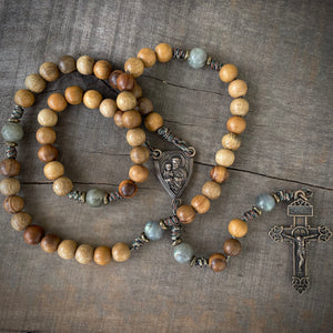 Handmade Wooden Rosary - Terror of Demons Design - Silicon Bronze