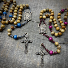 Handmade Wooden Rosary - Ave Maria Design