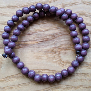 Dyed Wood Beads