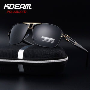 KDEAM Luxury Aluminum Magnesium Men's Sunglasses Polarized Coating Mirror Sun Glasses oculos Male Eyewear Accessories For Men-Free Shipping