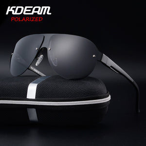 KDEAM Exercise Sunglasses Men Polarized UV Protection Sun Glasses fashion High Quality Brand Designer Cool Driving Eyewear Pilot-Free Shipping