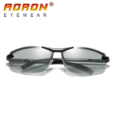 AORON Brand Photochromic Polarized Sunglasses Men Driving Anti Glare Goggles HD discolour Lens Sun Glasses Eyeglasses-Free Shipping