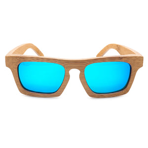 BOBO BIRD Polarized Square Wooden Sunglasses  Vintage Natural Bamboo Sun Glasses with Wood Box Oculos-Free Shipping