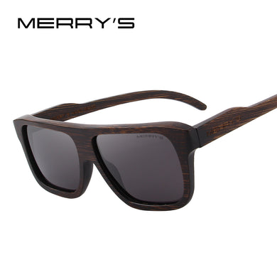 MERRY'S DESIGN Men Wooden Sunglasses Square Polarized Sun Glasses HAND MADE 100% UV Protection S'5066-Free Shipping
